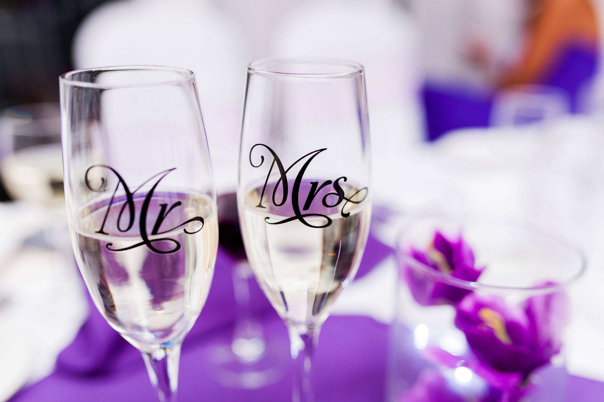 Purple Wedding Colours Scarborough Toronto Ontario Bluffers Park Marina Restaurant