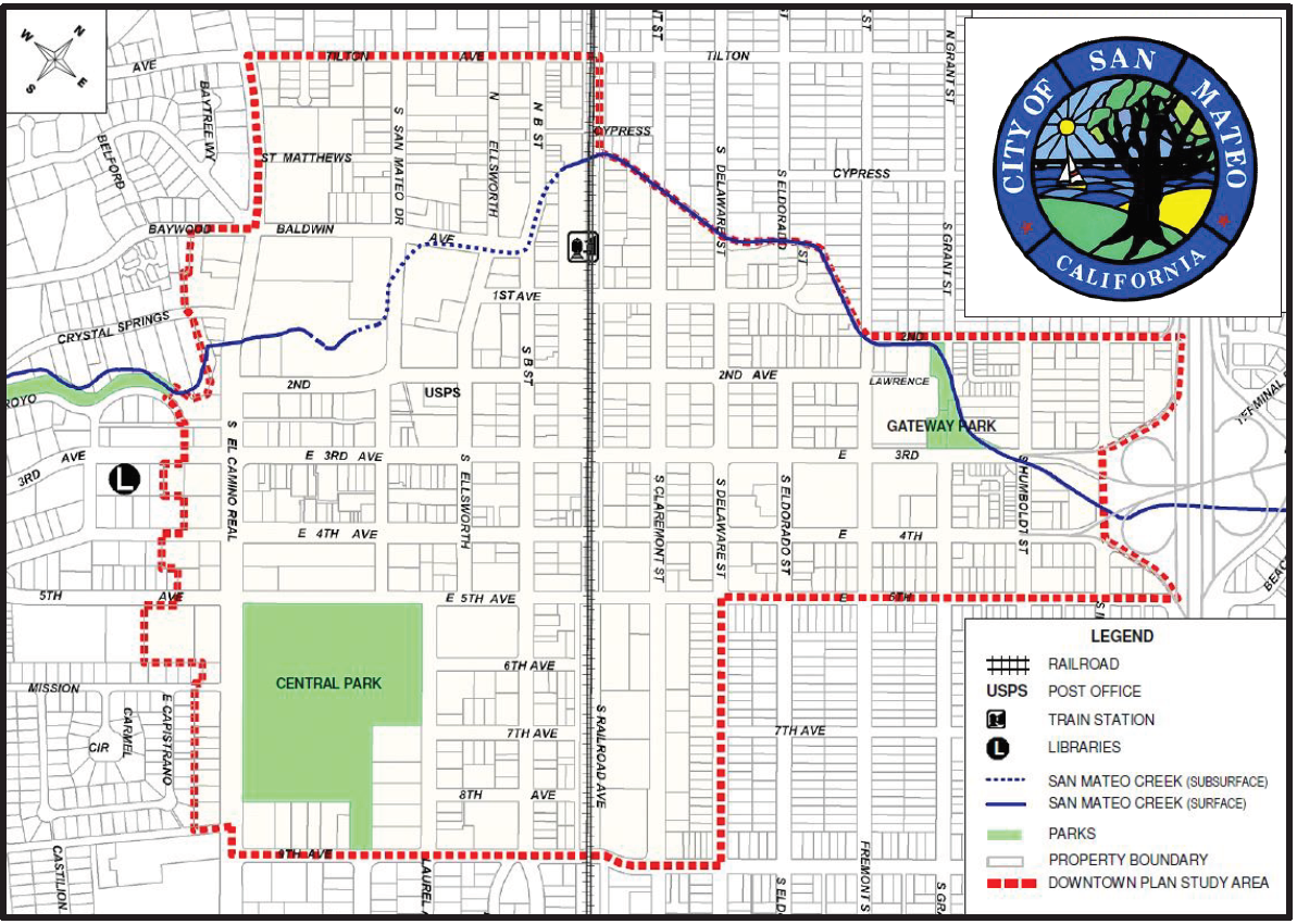 Downtown Plan Study Area Map