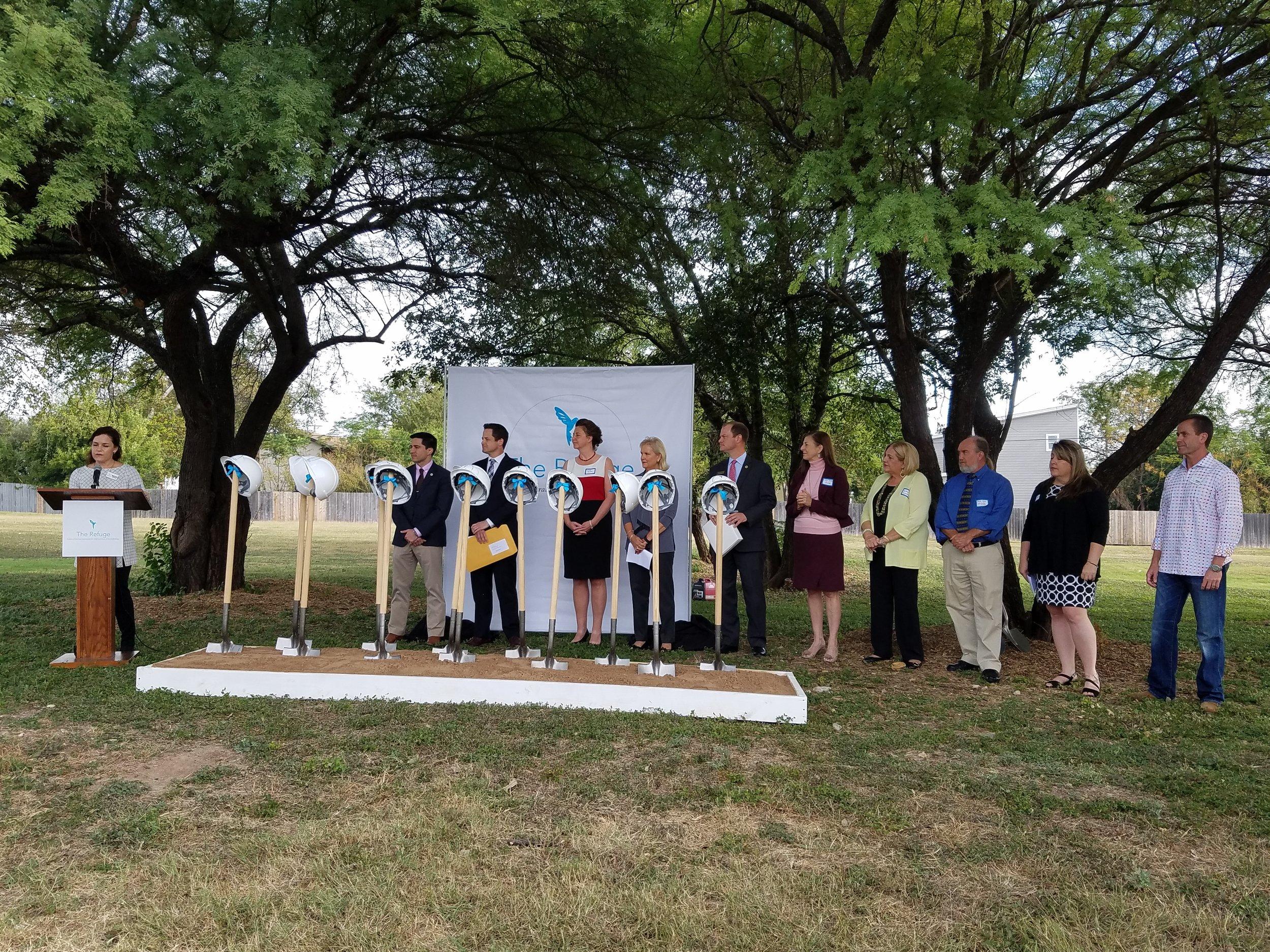 Ceremonial Groundbreaking for The Refuge Ranch, October 25, 2016