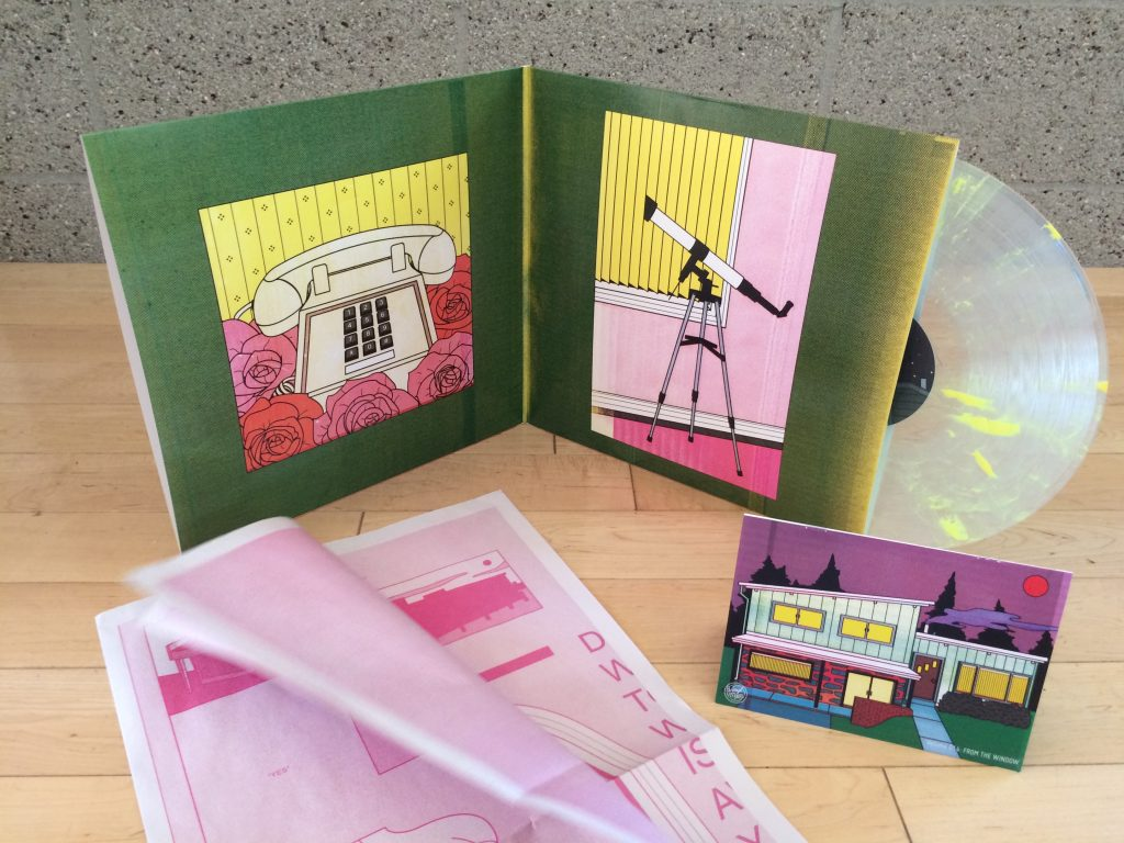 Vinyl Mood packaging with comic