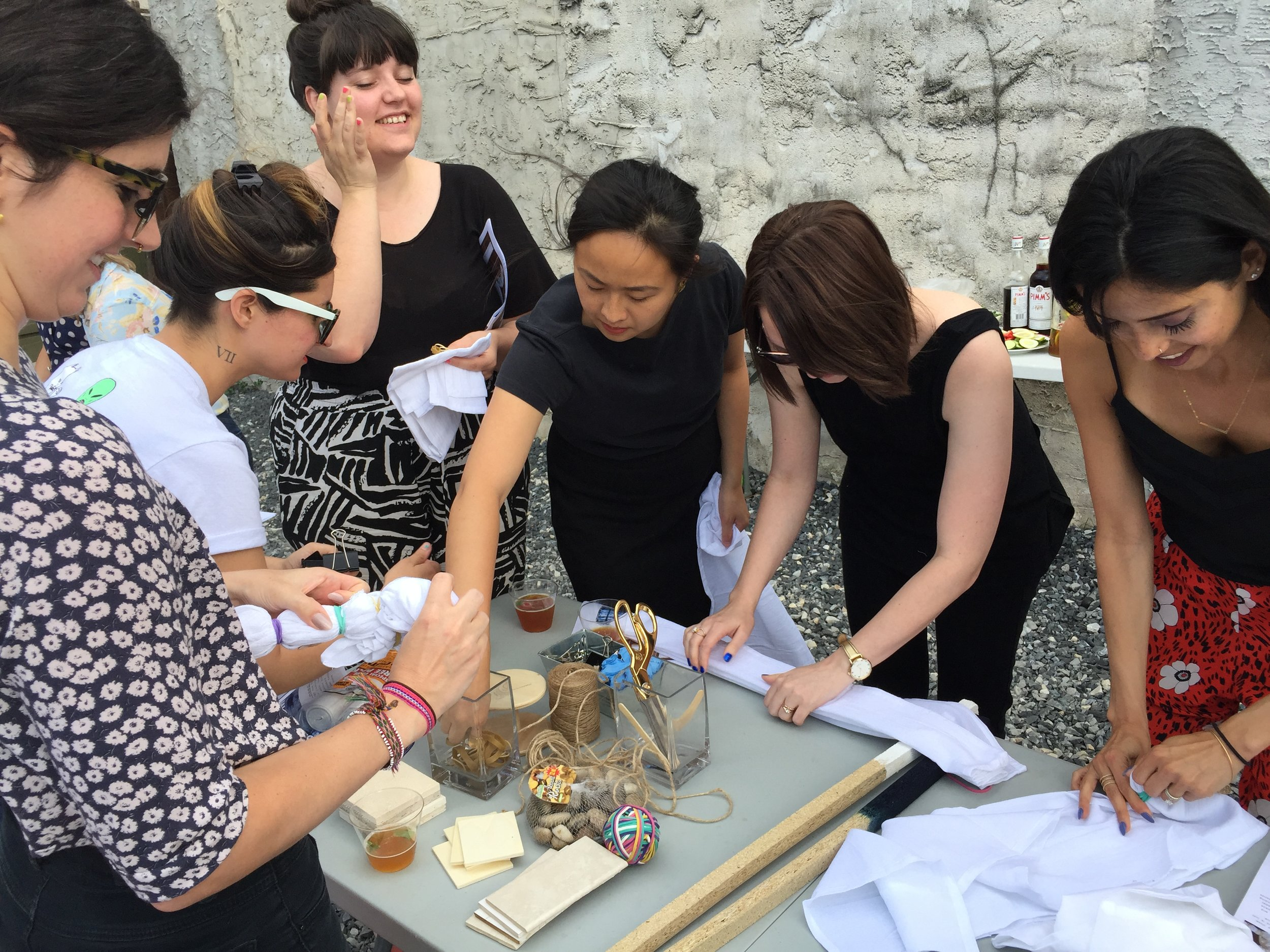 Tiffany and some of the Printfresh designers during an indigo dyeing workshop. It was a great summer!