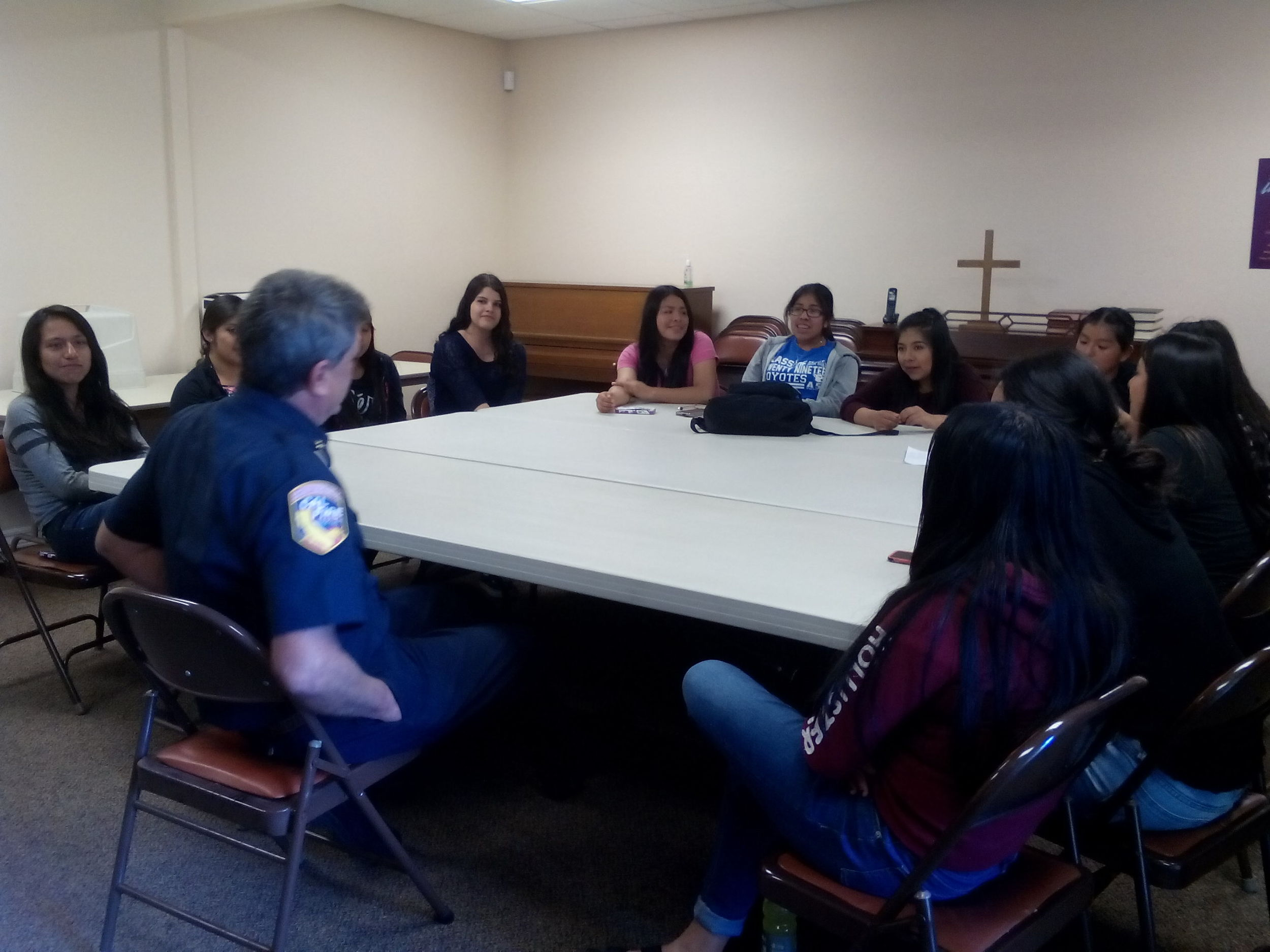 A forestry specialist from Cal Fire visited Madera Youth Leaders to talk about tree planting. He covered topics such as drought tolerant trees, best time of year to plant, and greenhouse gas reduction. Our 3-year long tree planting project begins in October 2016. We are planting several trees at 3 schools, and later at 3 parks. We will be planting Chinese Pistachio, Chinese Elm, and Southern Live Oak trees. In the meantime, we're going to learn more about these topics and recruit volunteers to help us plant. If you would like to volunteer, please call the MCCJ office at (559) 661-1879