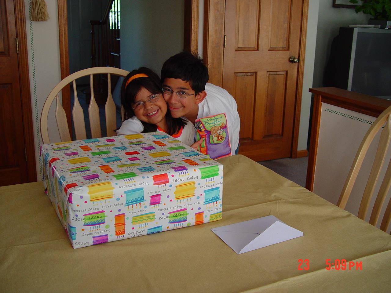 Vince Celebrates Alyssa's 8th birthday.JPG