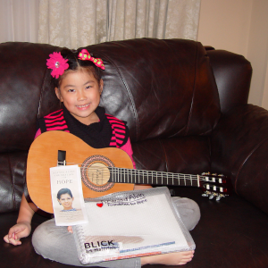 Name: Ella Joy Age: 8 Hometown: Plainfield, IL Gift: Acoustic Guitar Read more...