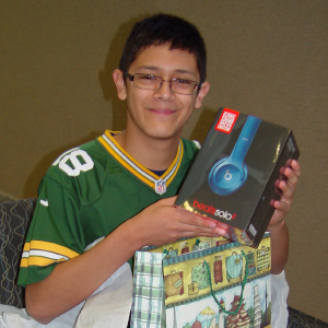 Name: Juan Age: 16 Hometown: Brookfield, IL Gift: Dr. Dre Beats Headphones  Read more...