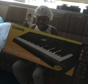 Name: Jameya Age: 13 Hometown: Dolton, IL  Gift: Electronic Keyboard  Read more..