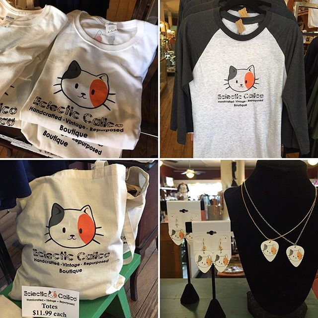Eclectic Calico cat logo goodies!