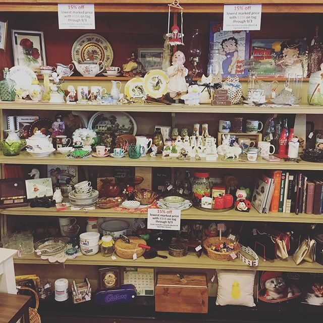 Debbie has a LOT of vintage goodies that are 15% off the lowest marked prices!
