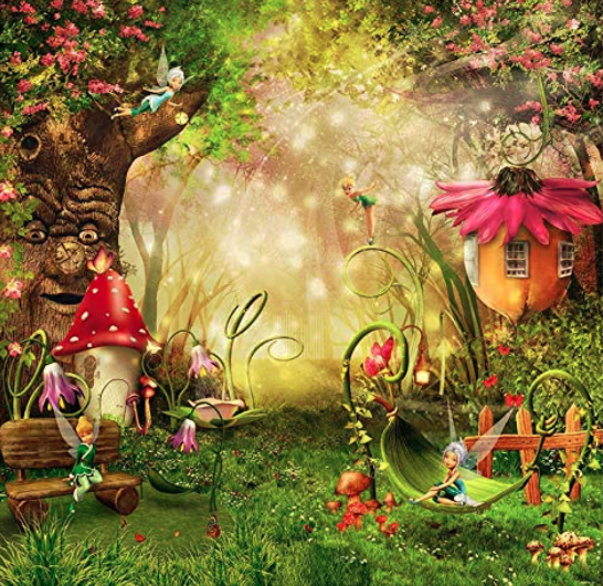 8x8 FT Photo Backdrop: Fairy Tale, Enchanted Forest Theme Birthday Party $50 / max 2 hours