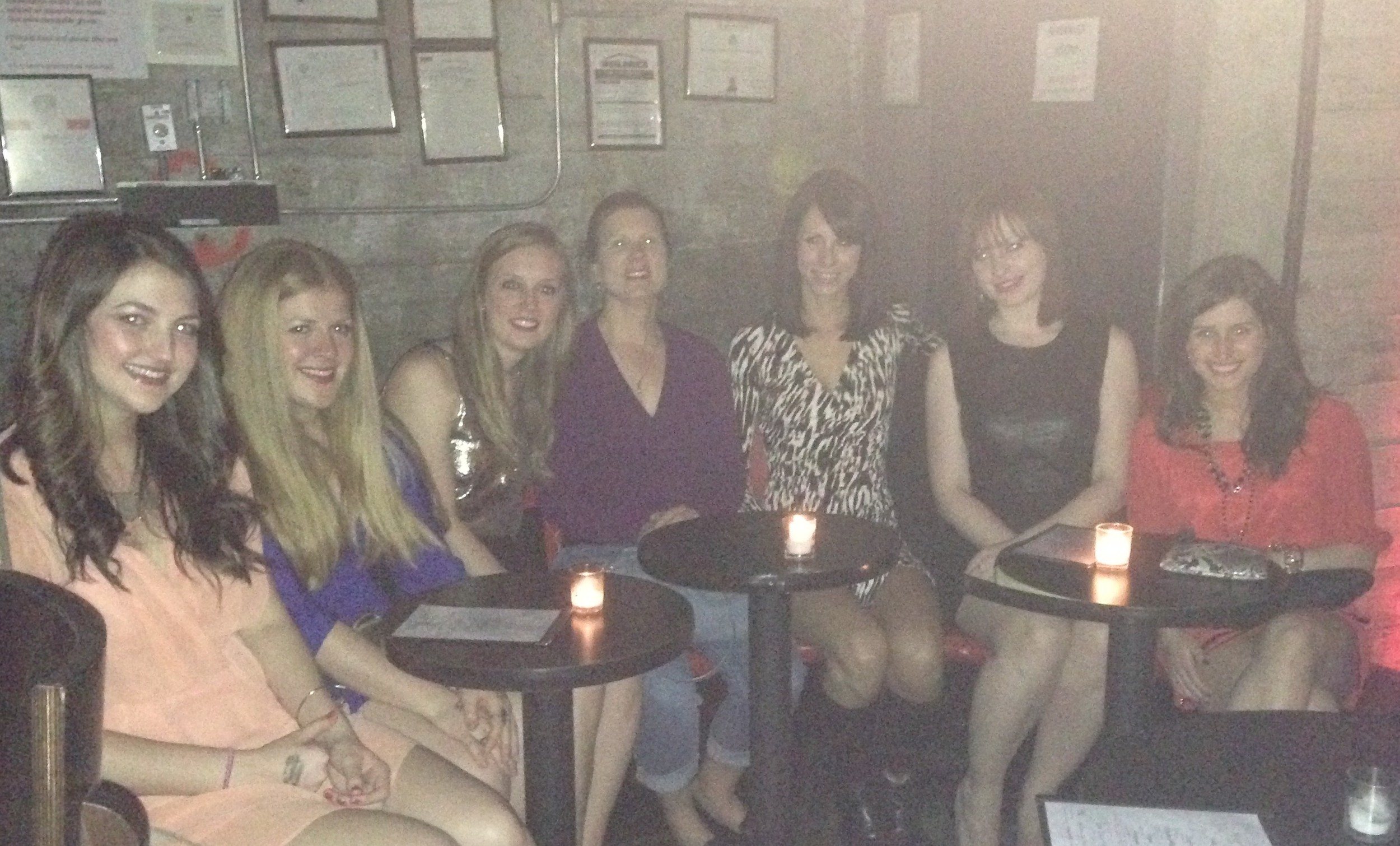 Girls night at a Burlesque show