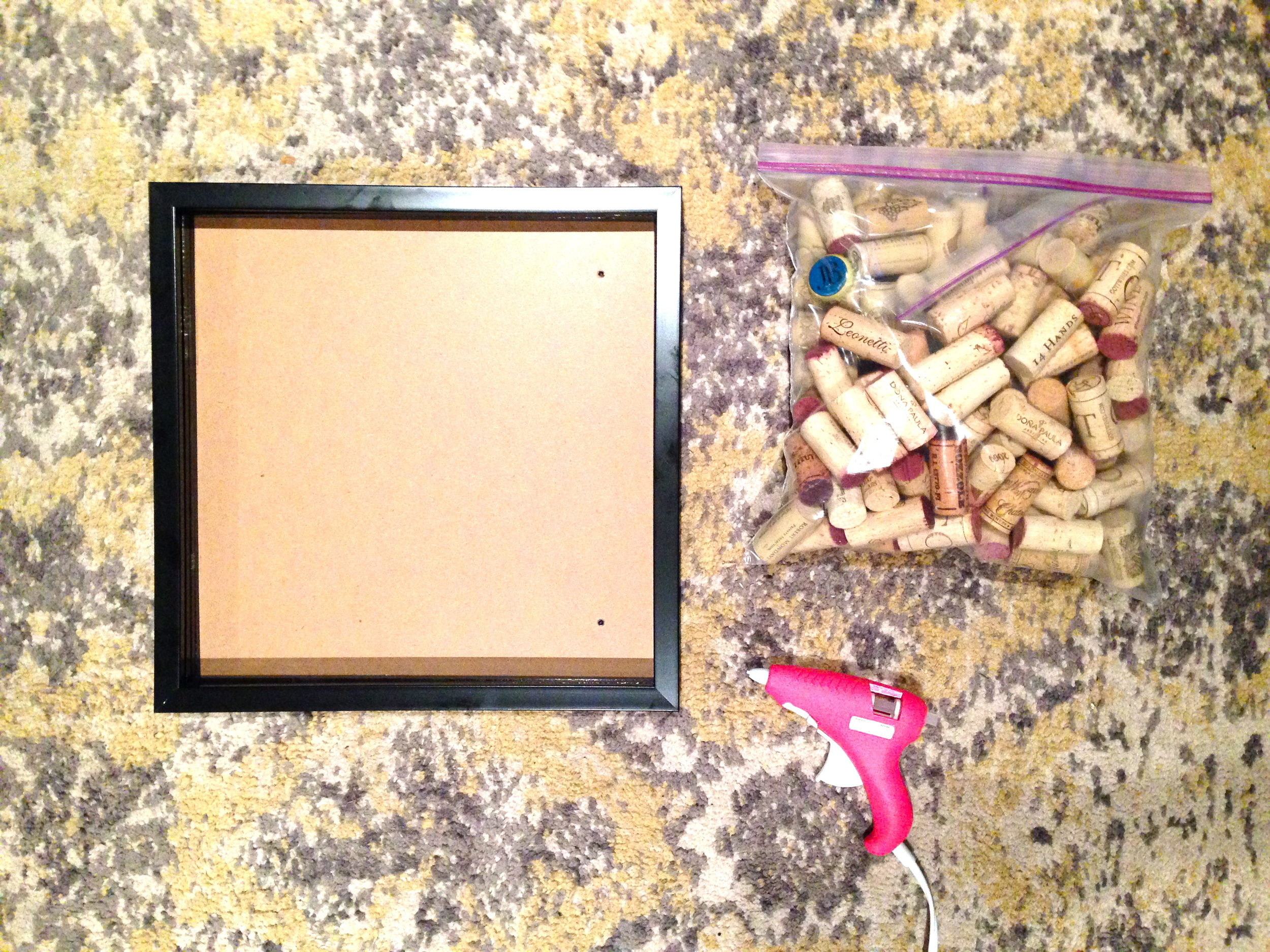 supplies for wine cork board
