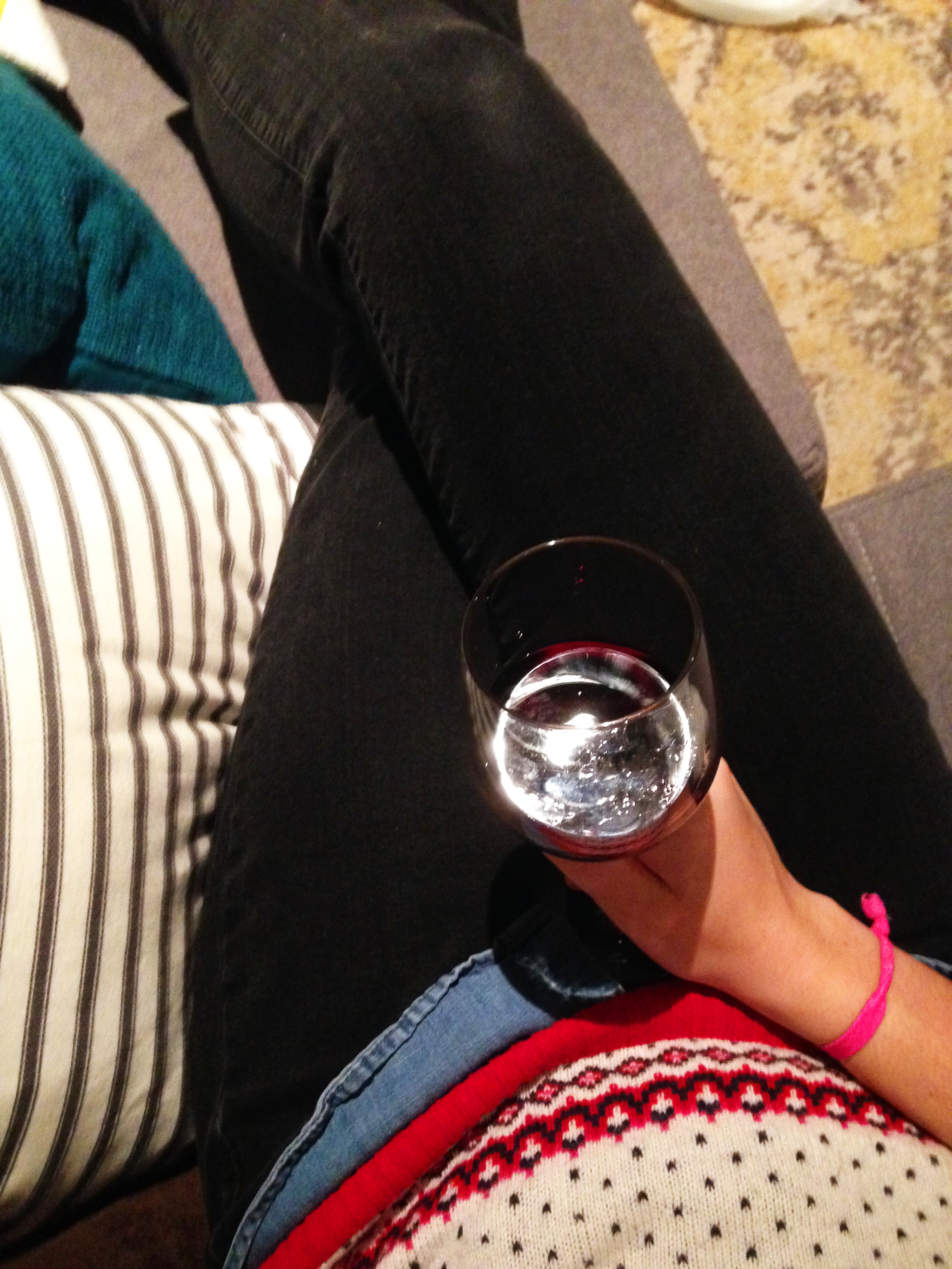 TV, wine and 3 patterns