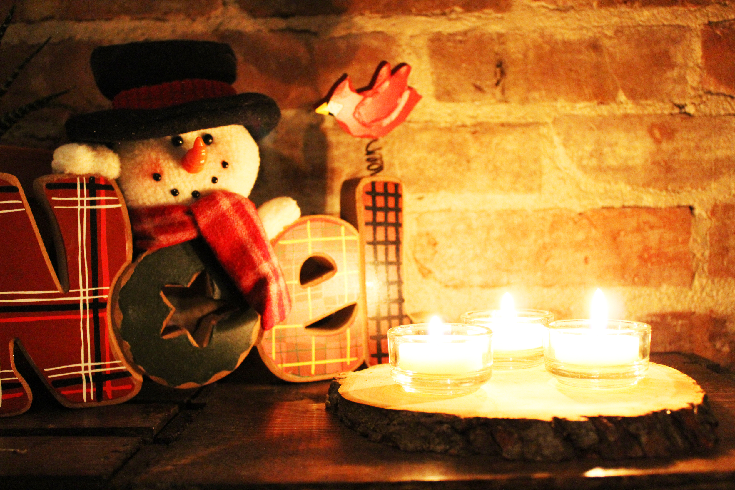 wooden tea light votive holder