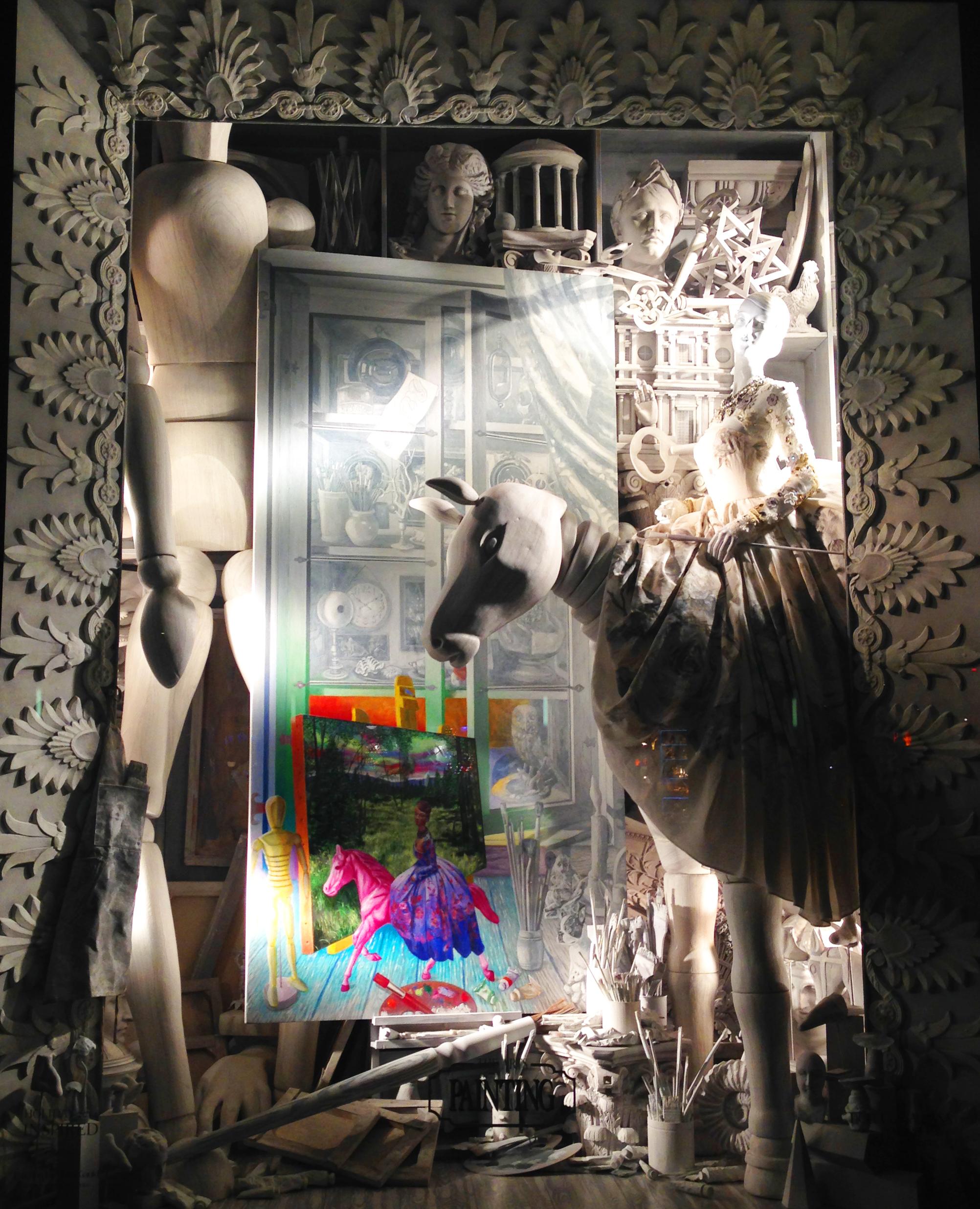 holiday window at bergdorf goodman