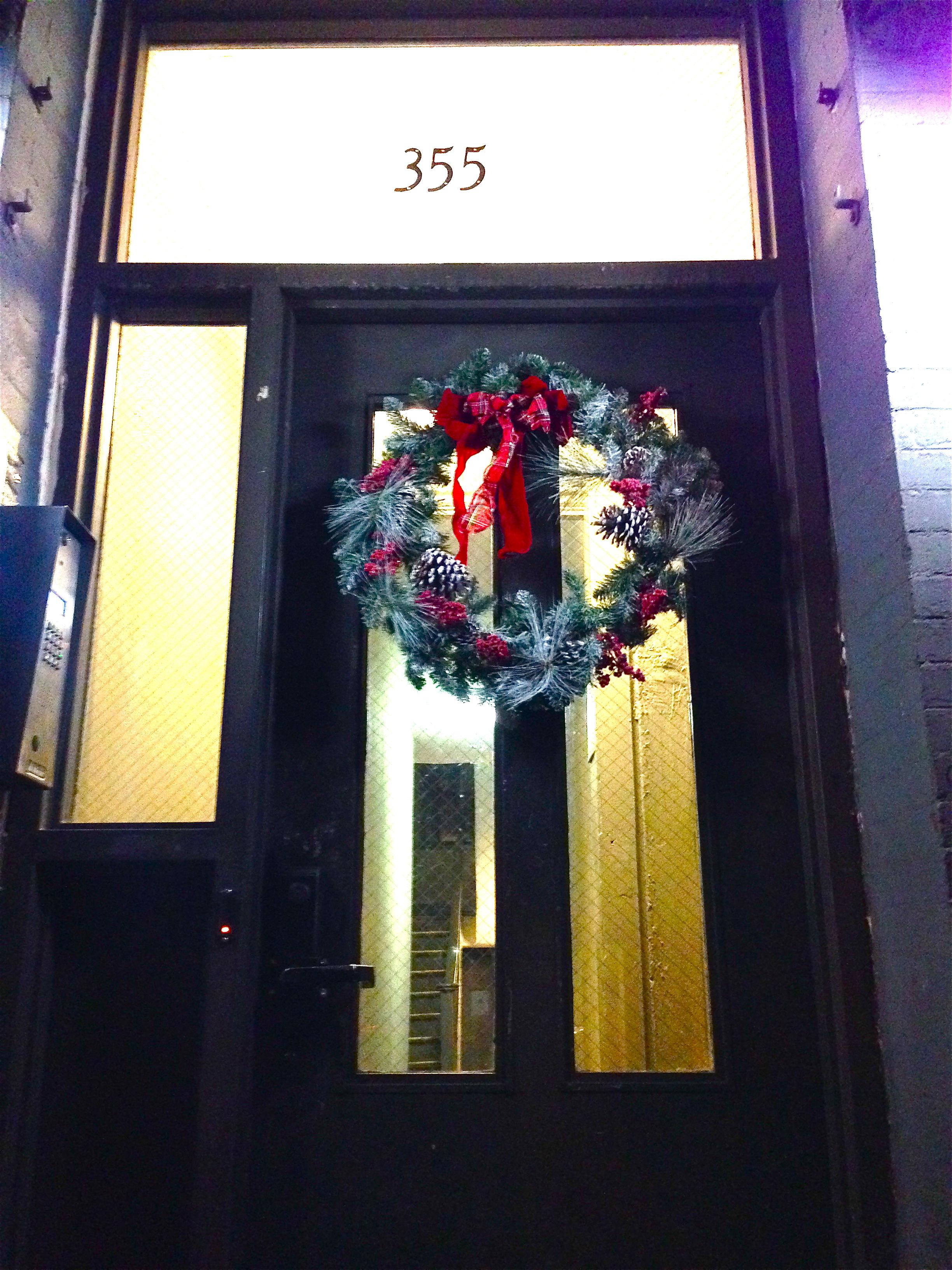 Wreath on my front door