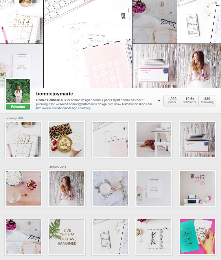 *Photos are by Bonnie Joy. This is a screenshot of her Instagram page.