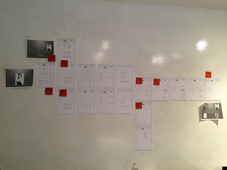 Reviewed mockups of the clickable prototype