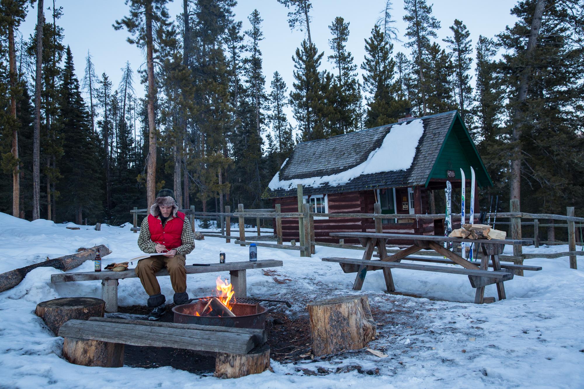 Trail Creek Forest Service Cabin, Gallatin Range, Montana.