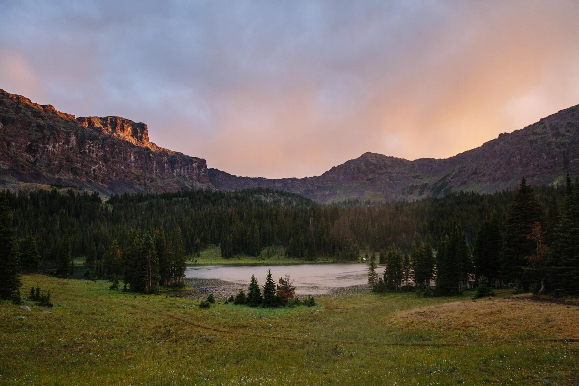 Emerald Lake:Hyalite-Porcupine-Buffalo-Horn Wilderness Study Area. Gallatin Range. Montana.