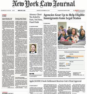 New York Law Journal, Nov. 2014