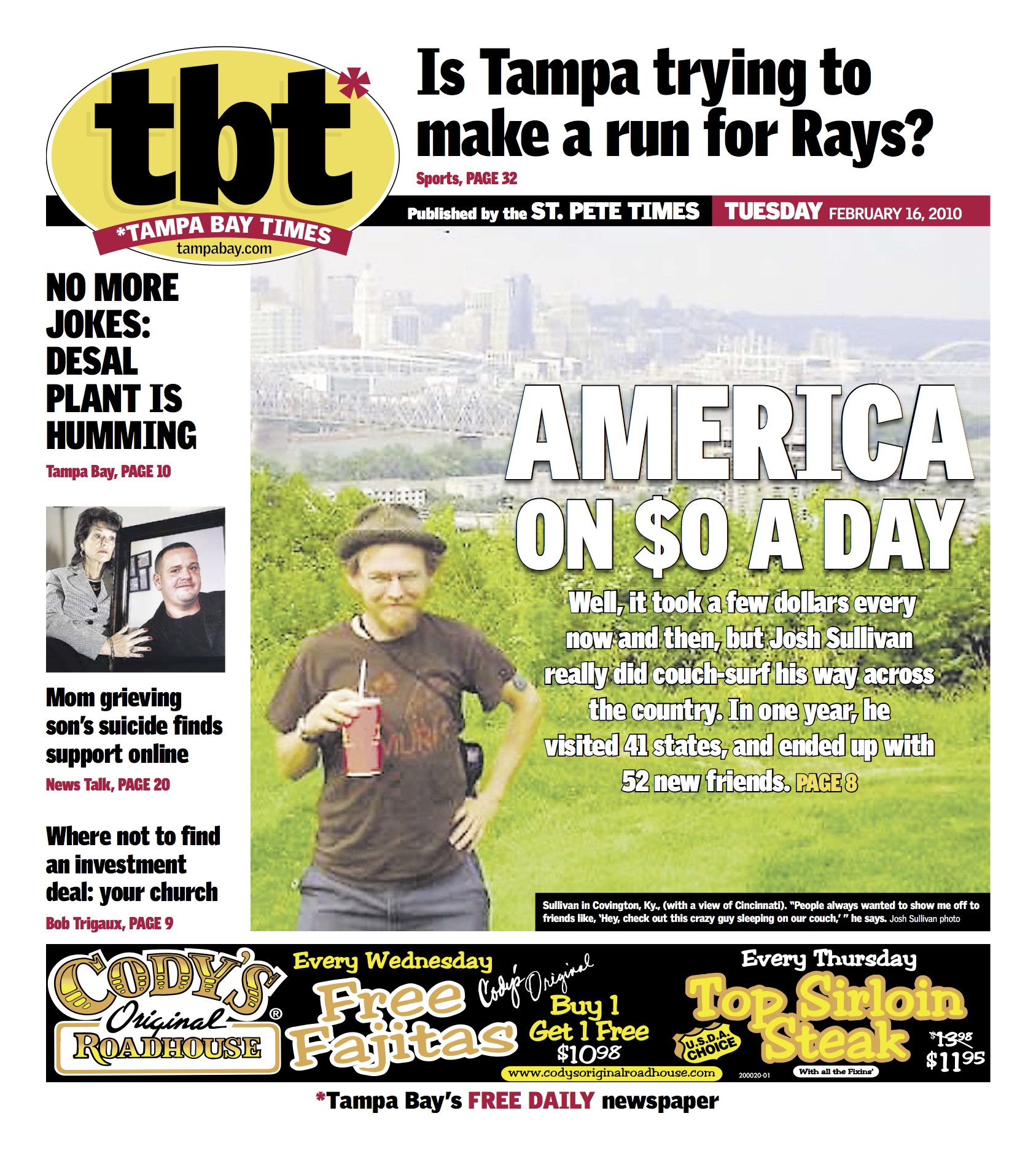 tbt*, the Tampa Bay Times' commuter tabloid, Feb. 2010