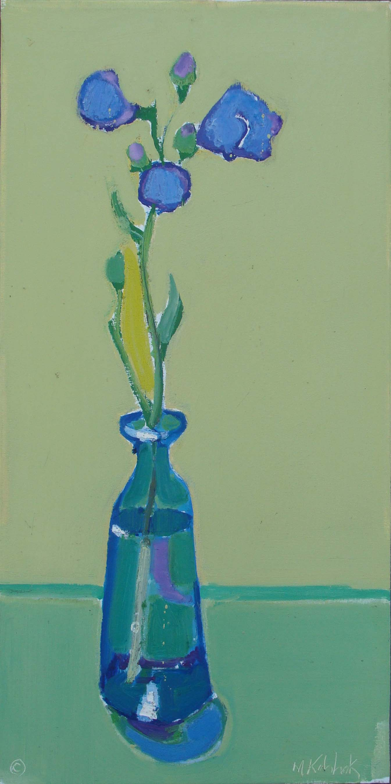 "Blue Vase 40x20"""