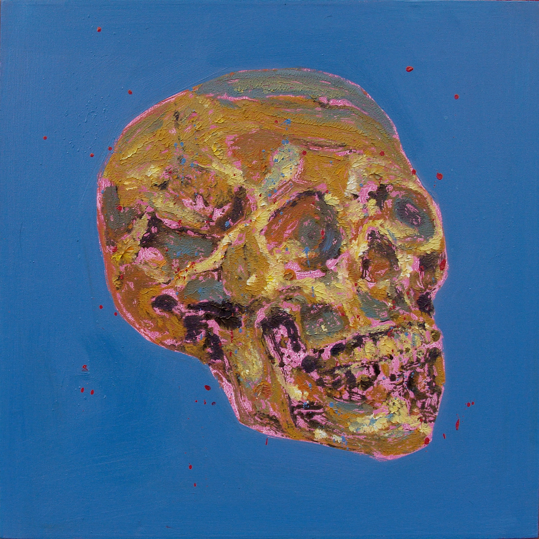 "Skull Blue Background 20x20"""