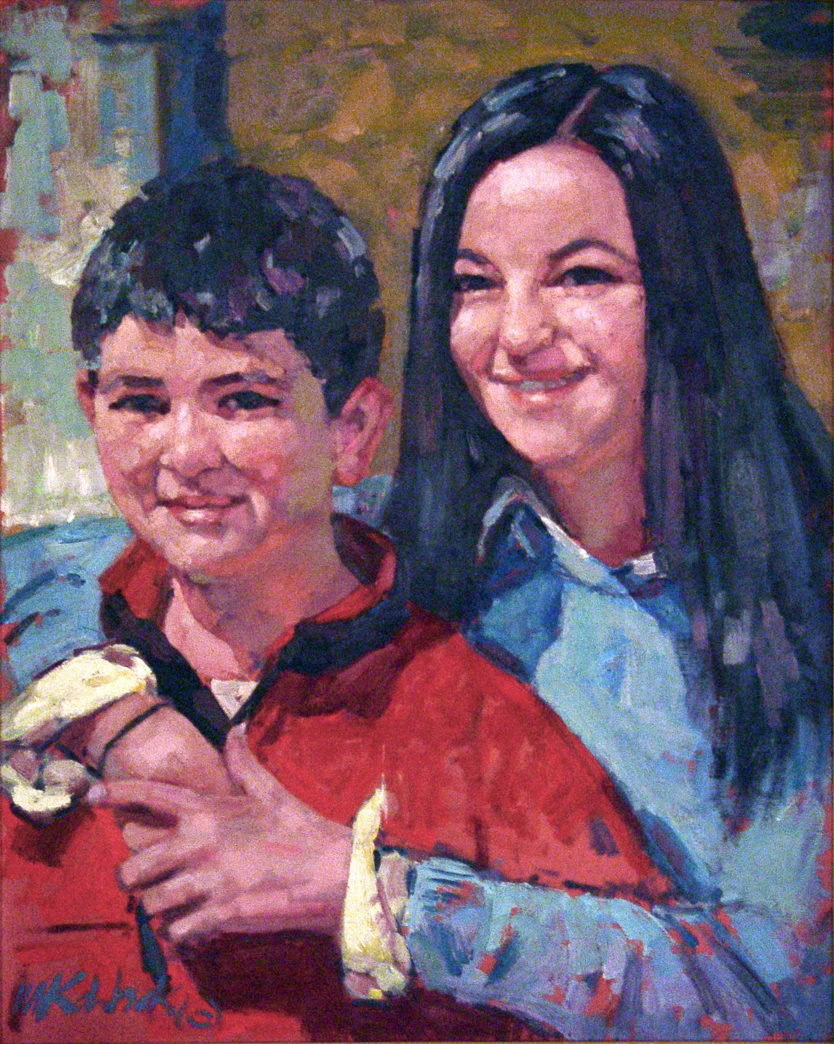 Brother and Sister  36x30""