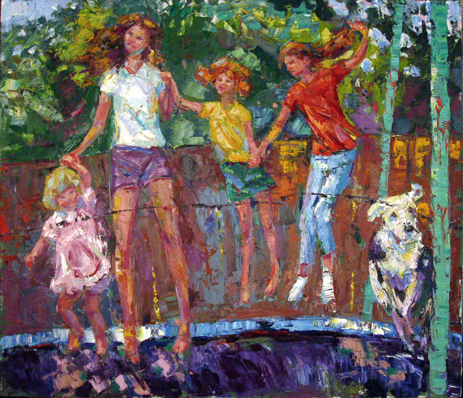 On The Trampoline 60x72""