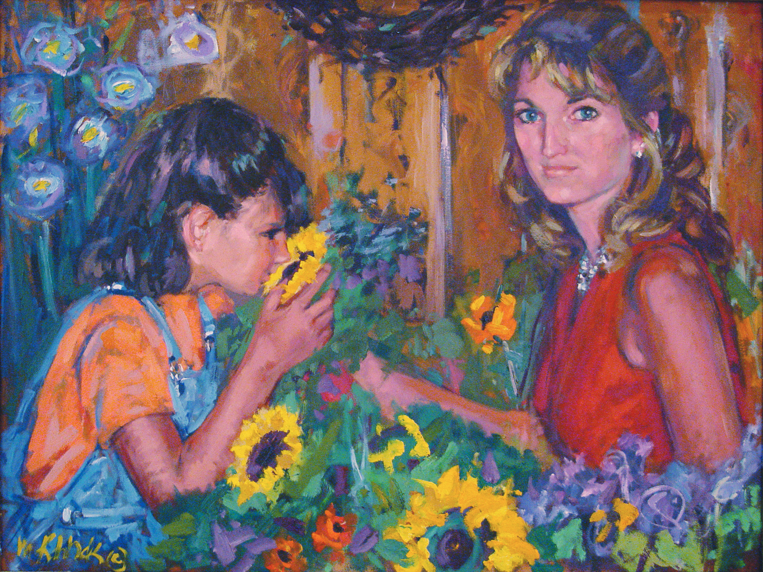 Mother and Daughter 36x48""