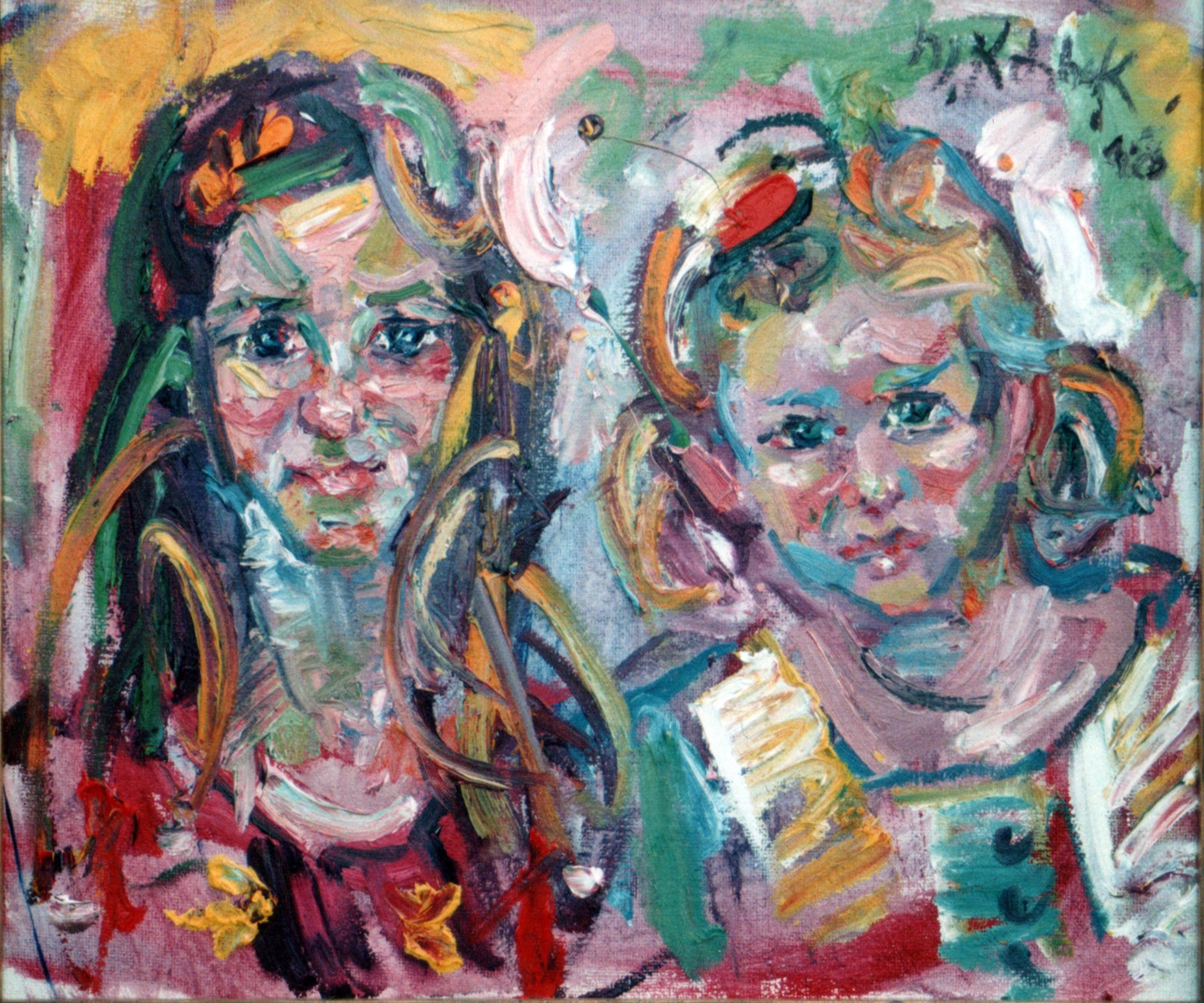 """Sisters Sketch 24x30"""""""
