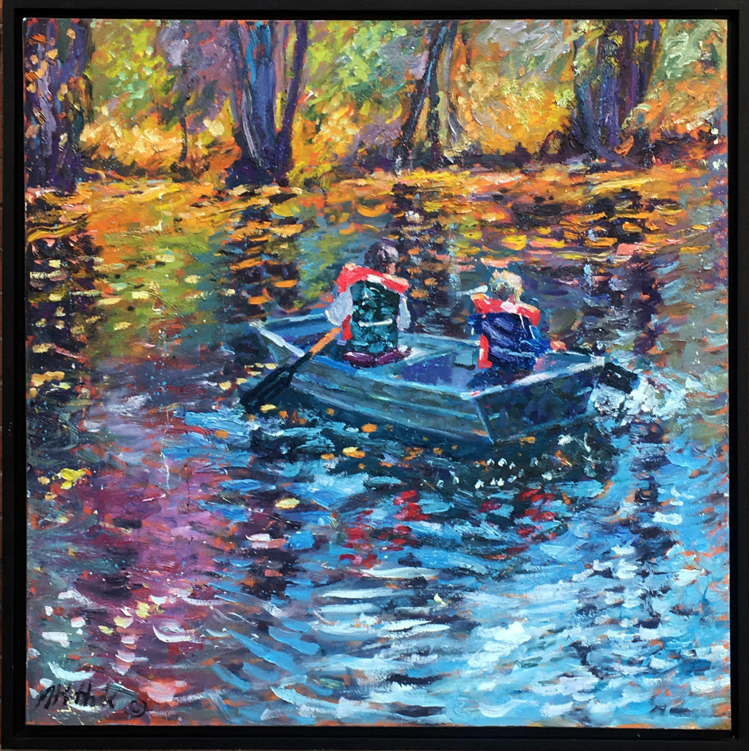 Rex and Jack Boating 48x48""