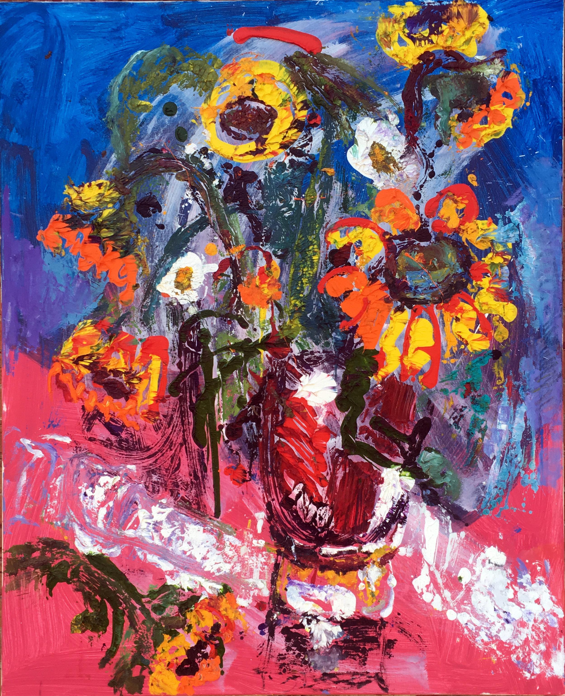 "Sunflowers Mono 50x40"""