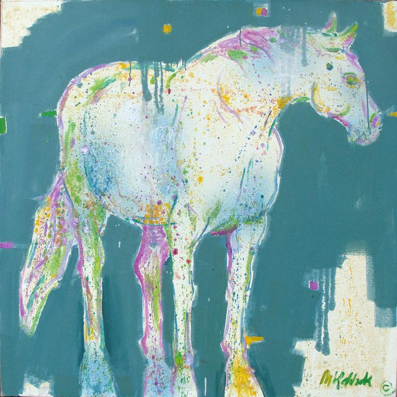 "Blue Horse 48x48"""