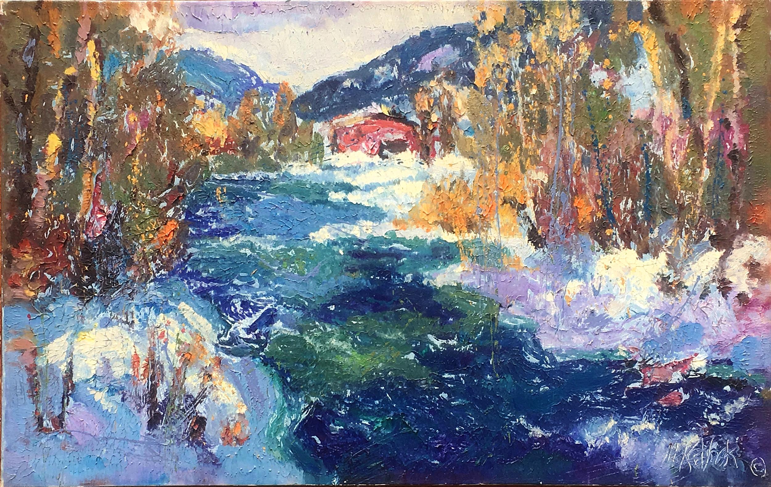 "Fall River Snow 30x48"""