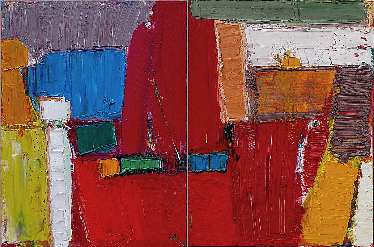 """Abstract Diptych 40x60"""""""