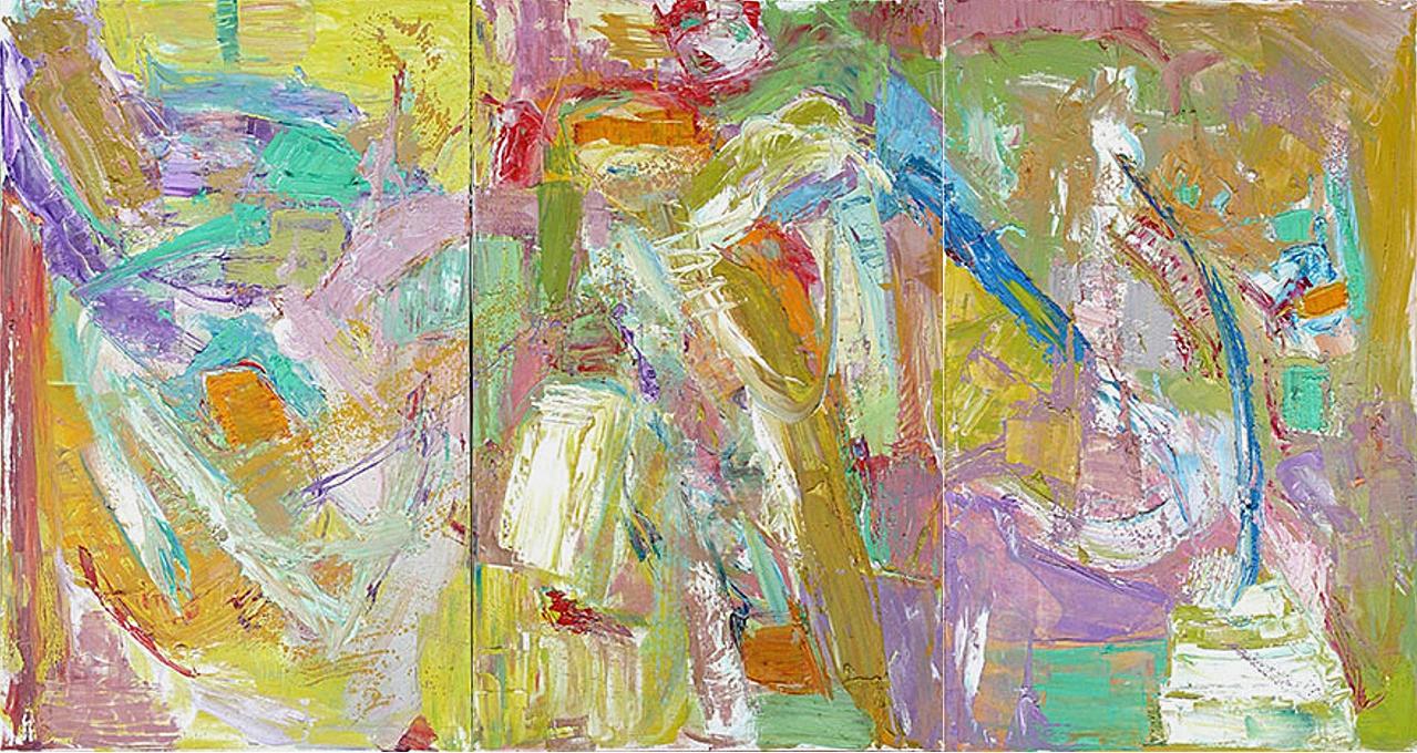 """Spring Triptych 48x90"""""""