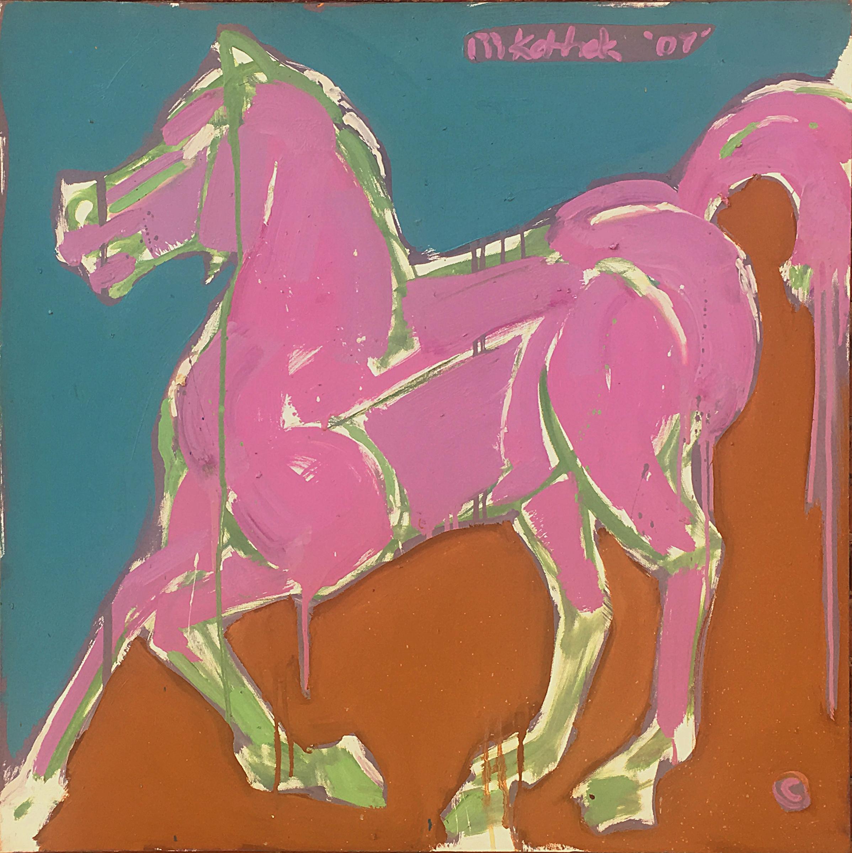 """Purple Horse 36x36"""""""