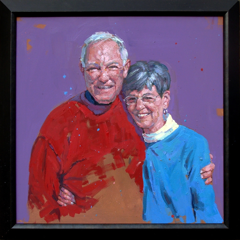 Joe and Sandra 40x40""