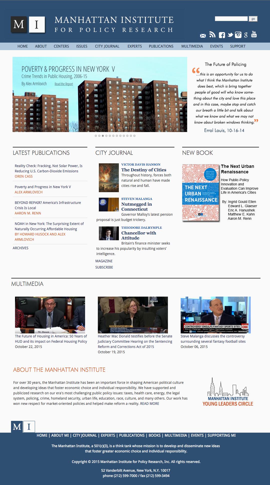 Previous Manhattan Institute Homepage