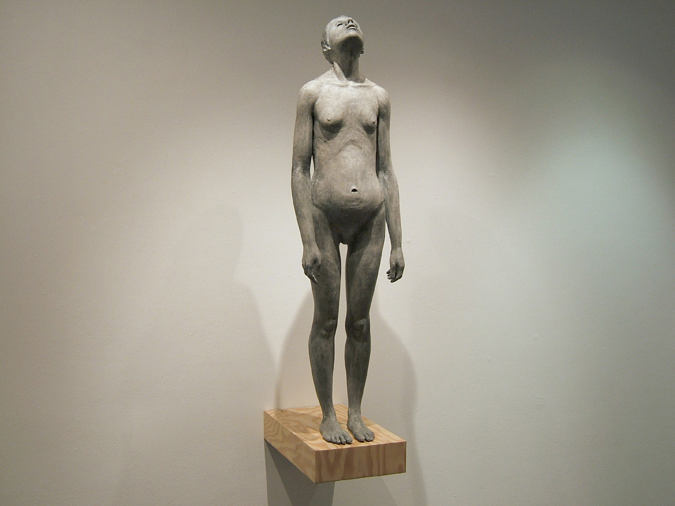 St. Lucy, 40 x 10 x 16 inches, Plaster, Wood - 2006
