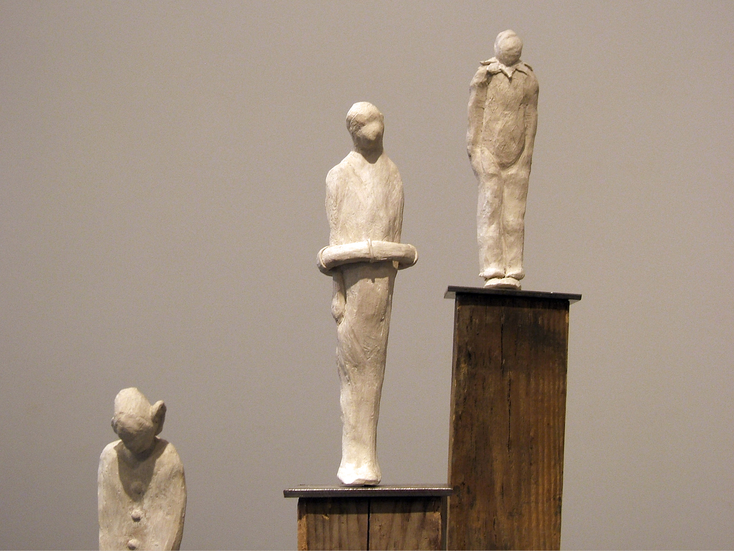 Piers , 2008, Ceramic, Wood, Steel, 40 x 48 x 36 Inches