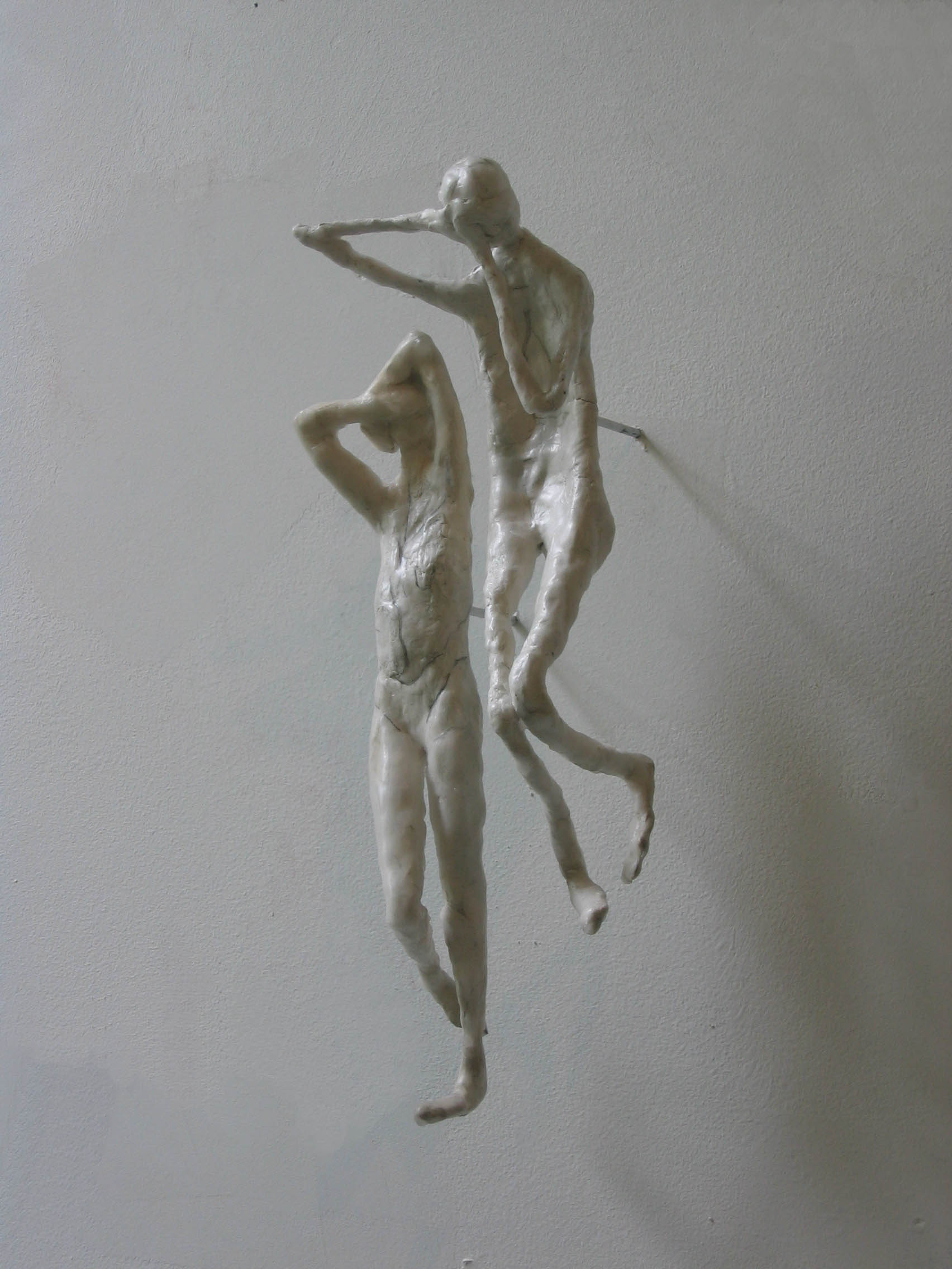 Transitions , 2008, Ceramic, Wax, 42 x 45 x 7 Inches
