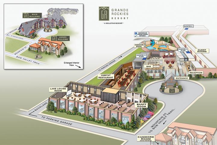 View Grande Rockies Resort Property Map