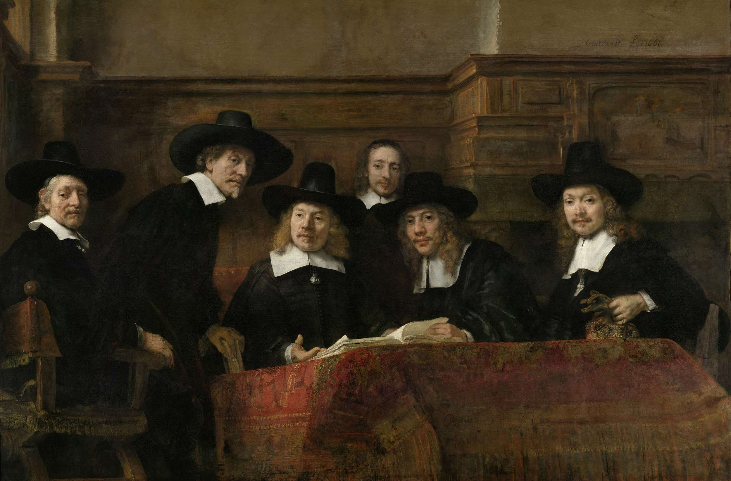 Rembrandt painted 'Syndics of the Drapers' Guild' in 1662. Beaver hats like these men were wearing started to become popular far before the 1800's. It wasn't until they killed nearly all of the Eurasian beaver, Castor fiber , that they needed to find a new resource to fill the void