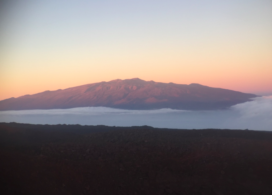 A view of Mauna Kea from the slopes of Red Hill Shelter (Mauna Loa)