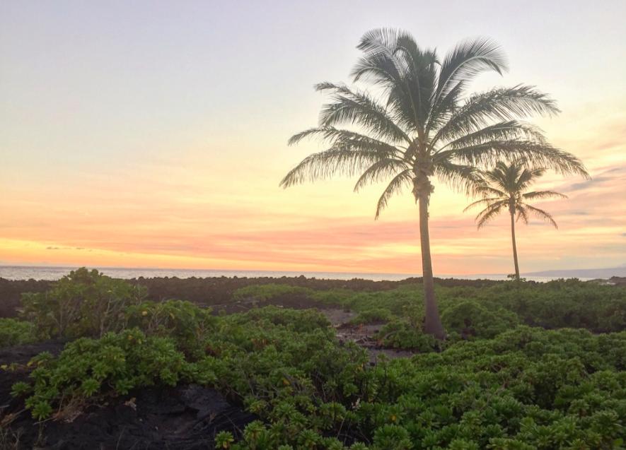 Sunset at Apua Point