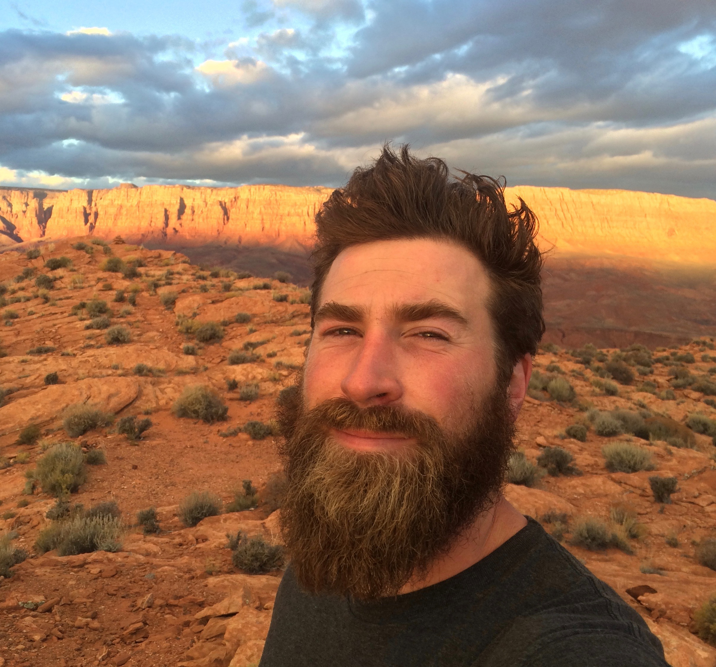 """""""In every walk with nature, one receives far more than he seeks.""""   --John Muir  Trevor decided to commemorate the trip and honor John Muir by growing his beard for the entire 59-week trip."""