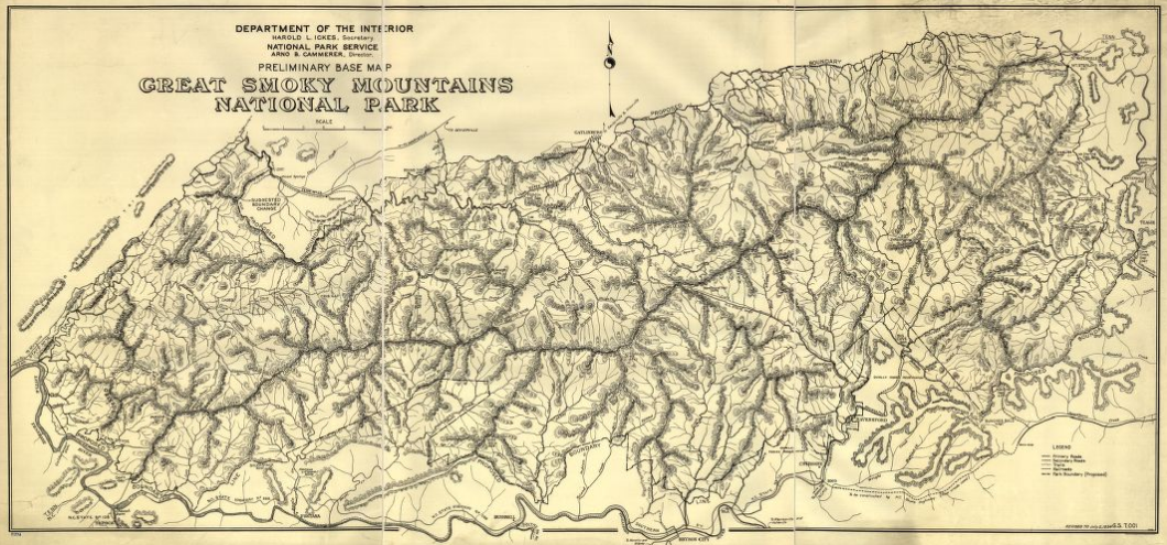 Preliminary Map of Great Smoky Mountains National Park