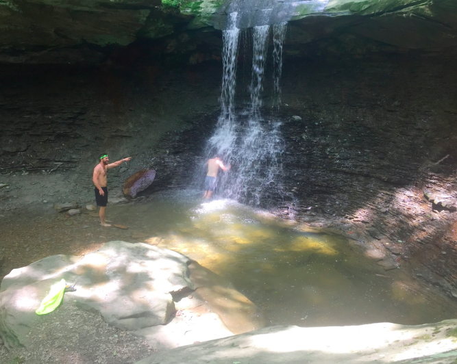 First time taking a 'nature' shower